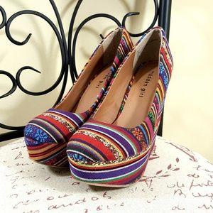 MADDEN GIRL Colorful Platform High Heels